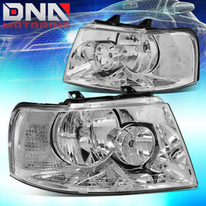 For 03 06 Ford Expedition U222 Chrome Clear Side Turn Corner Headlamp Head Light