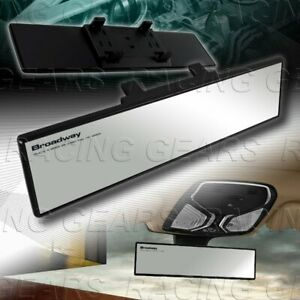 Clear Broadway 270mm Wide Flat Interior Clip On Rear View Mirror Universal 1