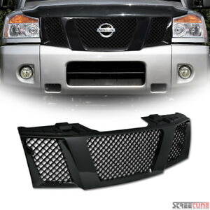 Blk Bentley Mesh Front Grill Grille Kit Replacement Fits 04 Nissan Titan armada