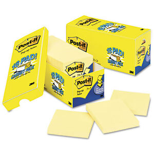 144 Post it Pop up Notes 3 X 3 Canary Yellow 90 sheet Pads