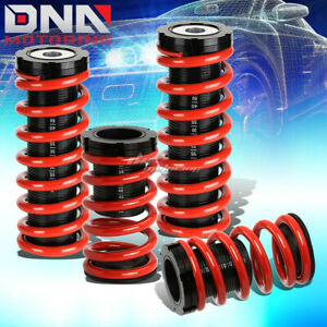For 00 05 Eclipse 3g 1 3 scaled Suspension Lowering Coilover Red Coil Springs