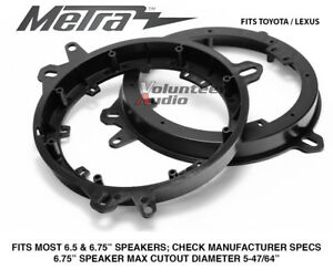 Metra 82 8148 6 To 6 75 Front Speaker Adapters For Lexus Toyota Models