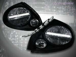 Fit 2000 2003 Maxima Jdm Black Tail Lights 01 02 03