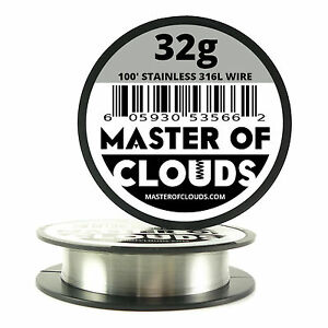 Ss 316l 100 Ft 32 Gauge Awg Stainless Steel Resistance Wire 0 20 Mm 32g 100