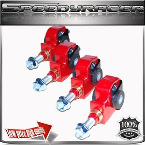 Civic 88 91 Crx 90 97 Accord 93 97 Del Sol 94 01 Integra Front Camber Kit Red