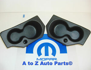New 2009 2018 Dodge Ram 1500 3500 Door Panel Foam Cup Holder Insert Set Oe Mopar