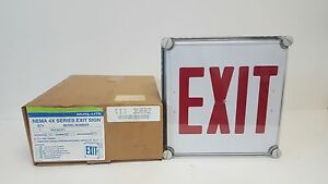 New Old Stock Dual Lite One Sided 120v Ac Exit Light N4xer1