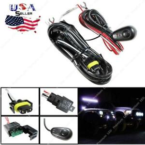 H11 H8 Relay Harness Wire Kit W Led On Off Switch For Fog Lights Hid Worklamp