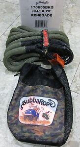 Bubba Rope 3 4 X 20 The Renegade Double Braid Tow Recovery 4x4 Snatch 19000 Lbs
