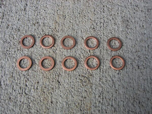 10 Ford Copper Housing Washers 9 Inch 8 Ford Rearend Axle New