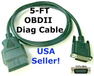 Obd2 Obdii Cable For Cen Tech Code Scanner Tool 60693 60694 60794 62119 62120