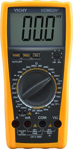 Digital Multimeter Dmm Vichy Vc9802a Voltmeter Ohm Capacitance Current Meter