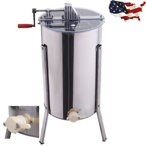Large 2 Frame Honey Extractor Beekeeping Equipment Stainless Steel