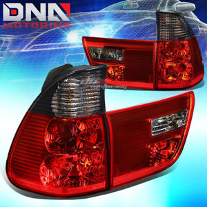 Smoked Housing Lens Red Led Tail Brake Signal Lights Lamps For E53 00 06 Bmw X5