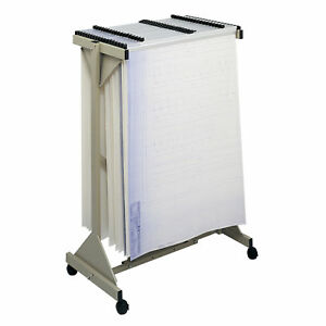 Safco Products Company Safco Sheet File Mobile Plan Hanging Filing Cart