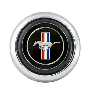 1965 1973 Mustang Tri bar Horn Button For Cs500 Steering Wheel Ford Licensed