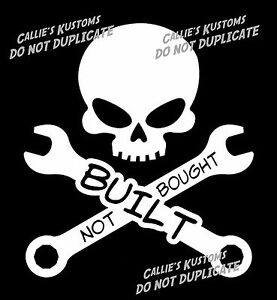 Built Not Bought Decal Sticker Monster Mud Truck Super Swamper Boggers Tires