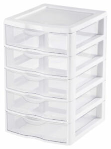 Sterilite Clearview 5 drawer Storage Chest Set Of 4