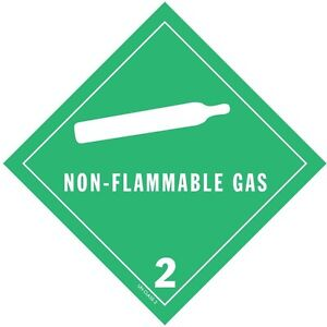 Non flammable Gas Hazard Class 2 D o t Shipping Labels 4 X 4 Roll Of 500