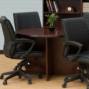 Round Meeting Conference Table Boardroom Private Office Wood 36 42 48 60 72