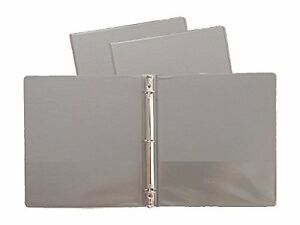 Gray Vinyl Standard 3 ring Binders 1 inch For 8 5 X 11 Sheets Pack Of 12