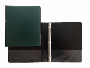 Hunter Green Vinyl Standard 3 ring Binders 1 inch For 8 5 X 11 Pack Of 12