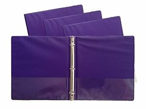 Purple Vinyl Standard 3 ring Binders 1 inch For 8 5 X 11 Sheets Pack Of 12