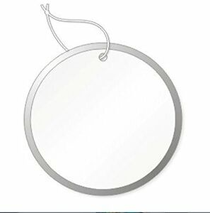 Round Tags With Metal Rims 15 16 Inch White With Knotted String Attached Box500