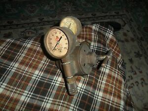 Vintage Airco Gauges Gas Oxygen Regulator 4 Parts Repair Ny Steampunk Art