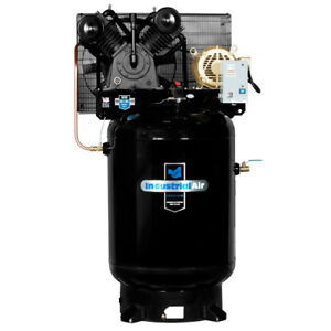 Industrial Air 10 Hp 230v 120 Gal Baldor Air Compressor Iv9919910 New