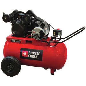 Porter cable 20 Gallon Horizontal Air Compressor Pxcmpc1682066 New