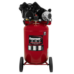 Powermate 1 6 Hp 30 Gal Oil lube Vertical Air Compressor Pla1683066 New