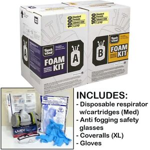 Touch N Seal U2 1000bf Fr Spray Foam Insulation Kit w protective Gear regular