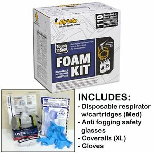 Touch n Seal U2 110 Spray Foam Insulation Kit 110bf w protective Gear regular