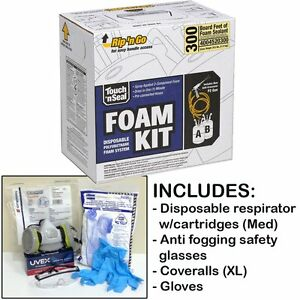 Touch N Seal U2 300bf Fr Spray Foam Insulation Kit w protective Gear regular
