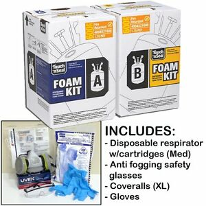 Touch n Seal U2 600 Fr Spray Foam Insulation Kit 600bf W protective Gear reg