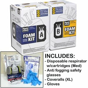 Touch n Seal U2 600 Spray Foam Insulation Kit 600bf W protective Gear regular