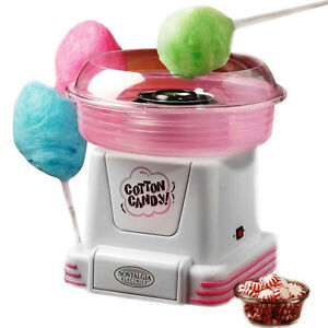 Mini Cotton Candy Maker Machine Hard Lifesaver Floss Spinner Nostalgia Electric