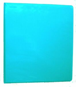 Turquoise 3 Ring 1 View Binder 8 5 X 11 Box Of 12