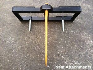 Skid Steer Bale Spear Attachment Wd W 49 Spear Quick Attach Bucket Loader 3000
