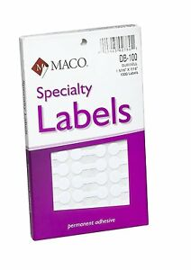 Maco White Small Dumbbell Labels 1 5 16 X 7 6 Inches 1000 Per Box db 100