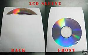 1000 White Double 2 Disc Cd Dvd Paper Sleeve Js214