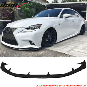 For 14 16 Lexus Is250 Is350 F Sport Only Ag Style Front Bumper Lip Urethane Pu