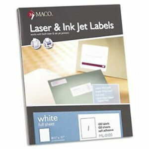 Maco White Shipping Name Labels 0600 4 X 3 1 3 600 Per Box 5 box Pack