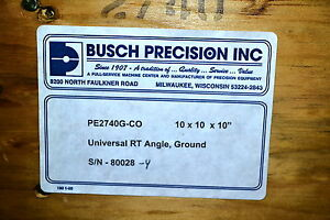 Nos Busch Precision Usa 10 x10 x10 Universal Right Angle Plate 2740 List 1370