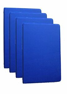 Mead 46001 bl Small 6 ring Blue Binders With 6 75 X 3 75 inch 4 Pack