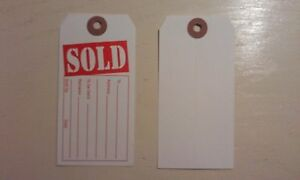 sold Tags Red And White Heavy Duty Paper Stock 4 3 4 X 2 3 8 1000 Ea