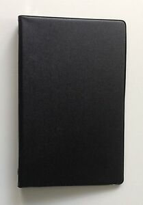 Mead 46000 Small 6 ring Vinyl Loose leaf Memo Notebook With 3x5 4 Pack