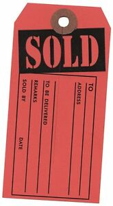 1000 Large sold Tags Red And Black Heavy Duty Paper Stock 4 3 4 X 2 3 8