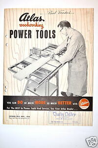 Atlas Woodworking Power Tools Catalog No W55 1954 rr171 Saw Drill Jointer